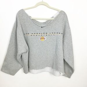 Lakers cropped sweater. P19